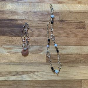 Lia Sophia Necklaces set of two